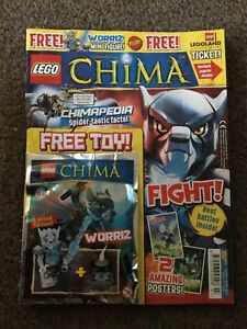 Le D'origine Sur Jouet Lego Afficher Titre Chima Magazine Issue 7 Worriz Legends Détails Of eBdCrxoW