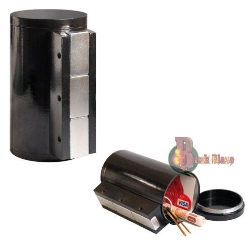 Car Stowaway Stash Container PotMagnetic Tin SafeMetal Storage Can Jar