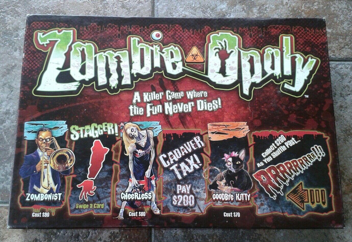 Zombie-Opoly Board Game Complete RARE
