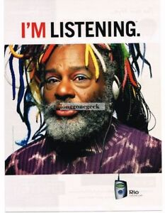 2001 Rio Digital Music Player George Clinton Vtg Print Ad 1990-now Merchandise & Memorabilia