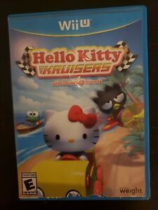 Hello-Kitty-Kruisers-w-Sanrio-Friends-Nintendo-Wii-U-Complete-DISC-NOT-WORKING
