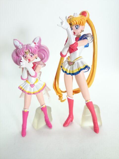 """Sailor Moon 3-4"""" Figure 2pcs Official Authentic Bandai Japan k#10914"""