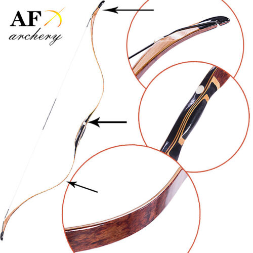 AF Archery 20-50lbs Handmade Laminated Traditional Mingbow Recurve bow