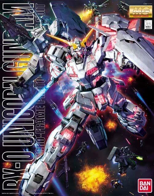 BANDAI MG 1 100 RX-0 UNICORN Gundam Plastic Model Kit Gundam UC from Japan