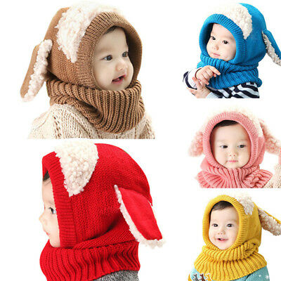 2019 Latest Design Baby, Girls And Boys Beanies With Attached Scarf