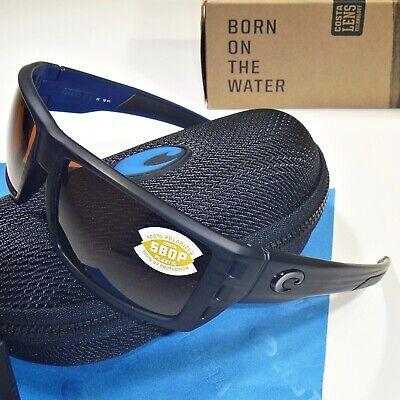 COSTA DEL MAR Rafael POLARIZED Sunglasses Matte Black Teak//Copper 580P NEW $169