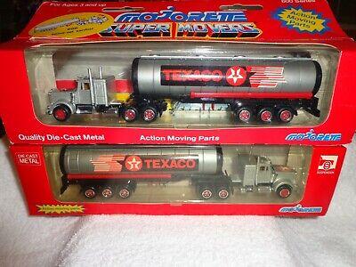 Texaco-Tank-Truck-Majorette-606-Die-Cast-8350806001-Pair-New-In-Box-SeeDetails