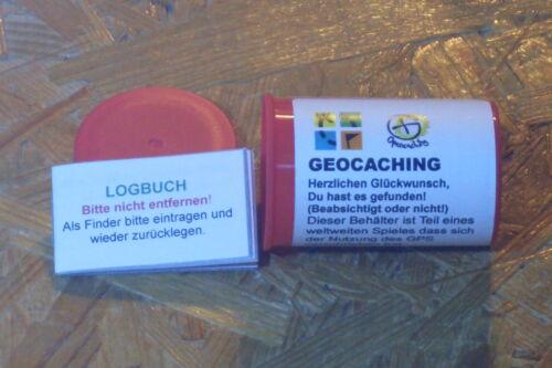 StashNote Filmdose Geocaching Geocache Micro+Logbuch+wasserfestem Aufkleber