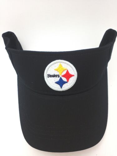 Pittsburgh Steelers Hat Adult Black Cotton Sun Visor by REEBOK