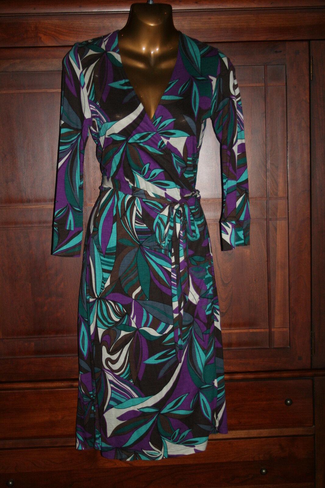 NWT Fashionista Multi-color Wrap Dress S - M