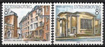 Luxemburg Nr.1056/57 ** Bauwerke 1982 Postfrisch üBerlegene Leistung Briefmarken