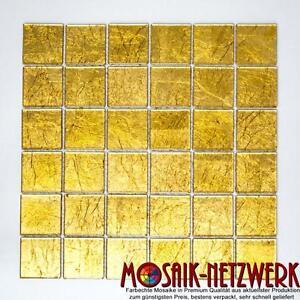 Mosaik-Fliese-Glasmosaik-gold-Struktur-Wand-Duschwand-Bad-Art-120-0786-b