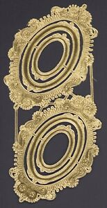 Alte-gold-gepraegter-Dresdner-Pappe-Ornamente-Goldrahmen-DIE-CUT-SCRAPS