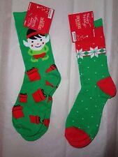 2X LEGALE CHRISTMAS  Santa Holiday Xmas SOCKS SIZE 9-11 Dress Socks 12$