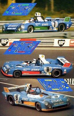 Calcas Matra MS670 Le Mans 1972  1:32 1:43 1:24 1:18 MS 670 decals