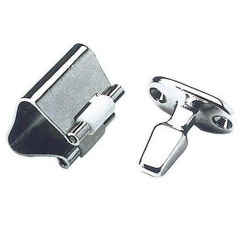 Chromed Brass Roll Lock Door Catch 25mm Height
