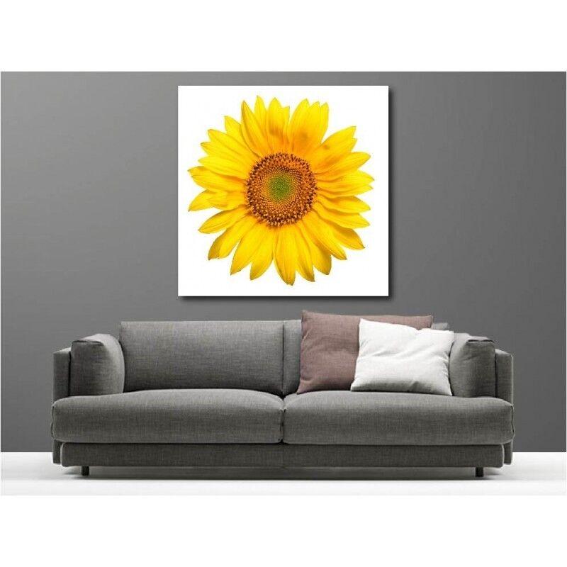 Gemälde Stoff Deko Quadratisch blueme yellow 11757415