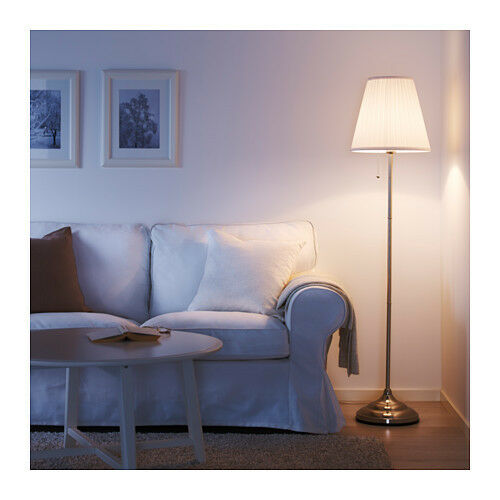 hot sale online aa42b b68bb IKEA Floor Lamp Arstid Stylish Nickel-plated Height 155cm White