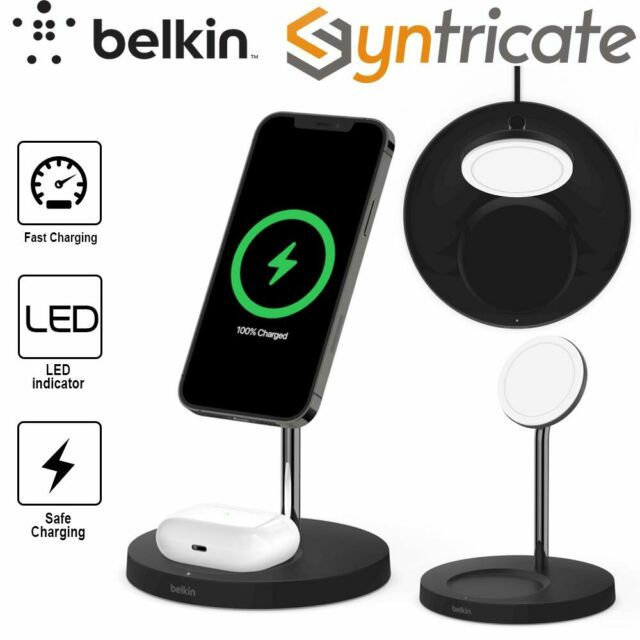 BELKIN BOOSTCHARGE PRO 2-in-1 Wireless Charger Stand With MagSafe 15W - Black
