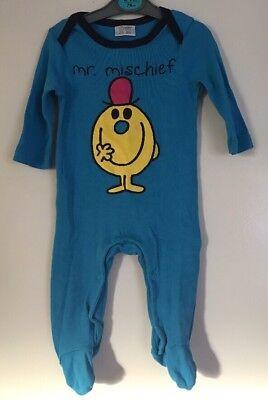 Amichevole Baby Boys F&f Blu Mr Mischief Pigiama Babygro. Età Fino A 3 Mesi- Originale Al 100%
