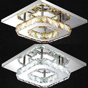 Details About Led Crystal Ceiling Light Modern Minimalist Kitchen Living Room Entrance Lamp Uk