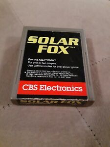 SOLAR-FOX-by-CBS-for-ATARI-2600-CARTRIDGE-ONLY-FREE-SHIPPING