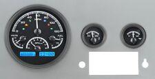 1955-86 JEEP CJ Dakota Digital Black Alloy & Blue VHX Gauge Dash Kit