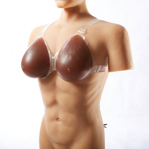 Mastectomie Seins Crossdresser Lot silicone Transgenre Formes en Faux de de seins Sangles wgfvxRq0U