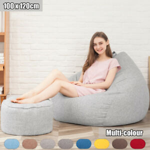 Image Is Loading Large Bean Bag Chairs For S Couch Sofa