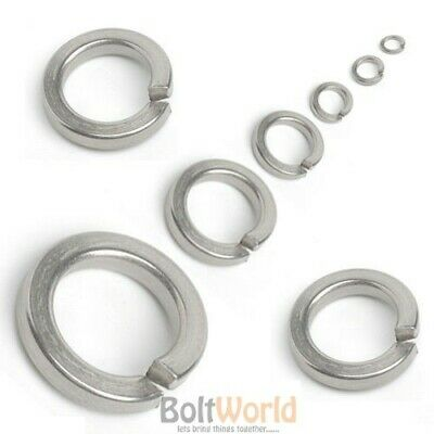 M12//12mm A2 STAINLESS STEEL SQUARE SECTION SPRING LOCK WASHERS  M5//5mm