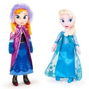 Peluche-Disney-La-Reine-des-neiges-ELSA-ANNA-25-cm-ou-lot-de-2-peluches-frozen