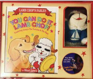 Shari-Lewis-Lamb-Chop-Puppet-And-Book-Set-NIB