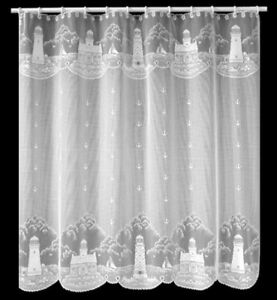 Image Is Loading Heritage Lace White 034 LIGHTHOUSE Shower Curtain