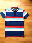 Men's Casual Yarn Dye Polos Short Sleeve Gym Tops T-Shirts Sports Placket Tees