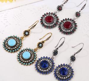 Fashion-Jewelry-Handmade-Bohemia-Beaded-Tassel-Dangle-Vintage-Ladies-Earrings