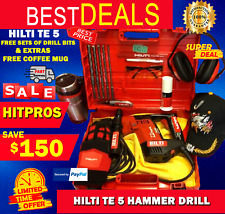 Hilti Te 5 Hammer Drill Lk Free Sets Of Drill Bits And Extras Fast Shipping