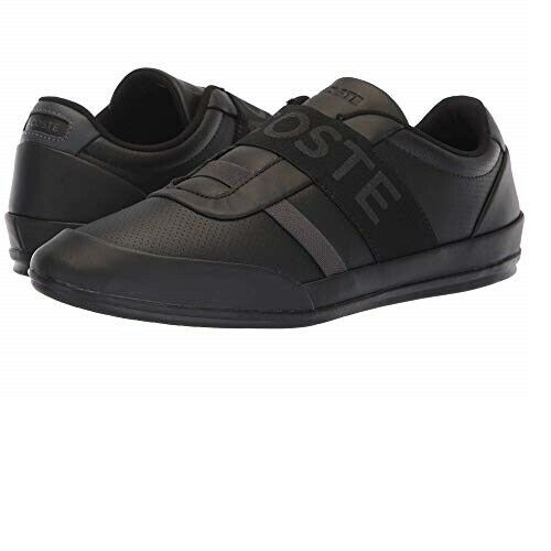 Lacoste Sneakers Misano Elastic 318 2 Casual Fashion Shoes Leather Black *new*