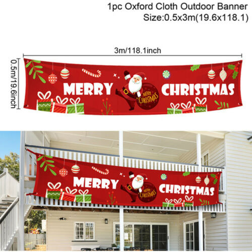 Oxford Cloth Outdoor Banners Letters Hanging Pendant Decor for Home Cristmas