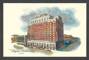 Ca 1936 PPC THE DAYTON BILTMORE A HILTON HOTEL 500 ROOMS, MINT