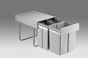 Einbau-Muelleimer-Abfallsammler-40-Liter-3-fach-und-Zubehoer-gt-waehlen