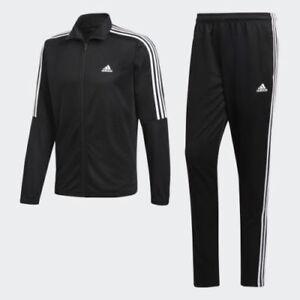 e49ed1d929a1 New Adidas men's Tiro Track Suit 3 stripe black white jacket and ...