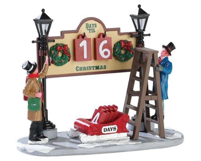 Weihnachtsdeko Weihnachtsdorf.Modellbau Lemax Lamplighter Countdown Weihnachtsdeko Weihnachtsdorf