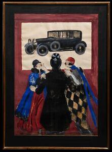 Maquette-d-039-Affiche-Originale-Leonetto-Cappiello-Studebaker-Automobile-1926