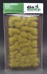 DioDump-DD011-J-6mm-realistic-grass-patches-BEIGE-diorama-scenery