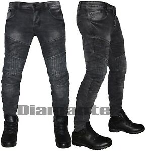 Nero Pantaloni Nuovo Biker Denim Elasticizzati 6231 Uomo Slim Jeans qCWwR7ZEn
