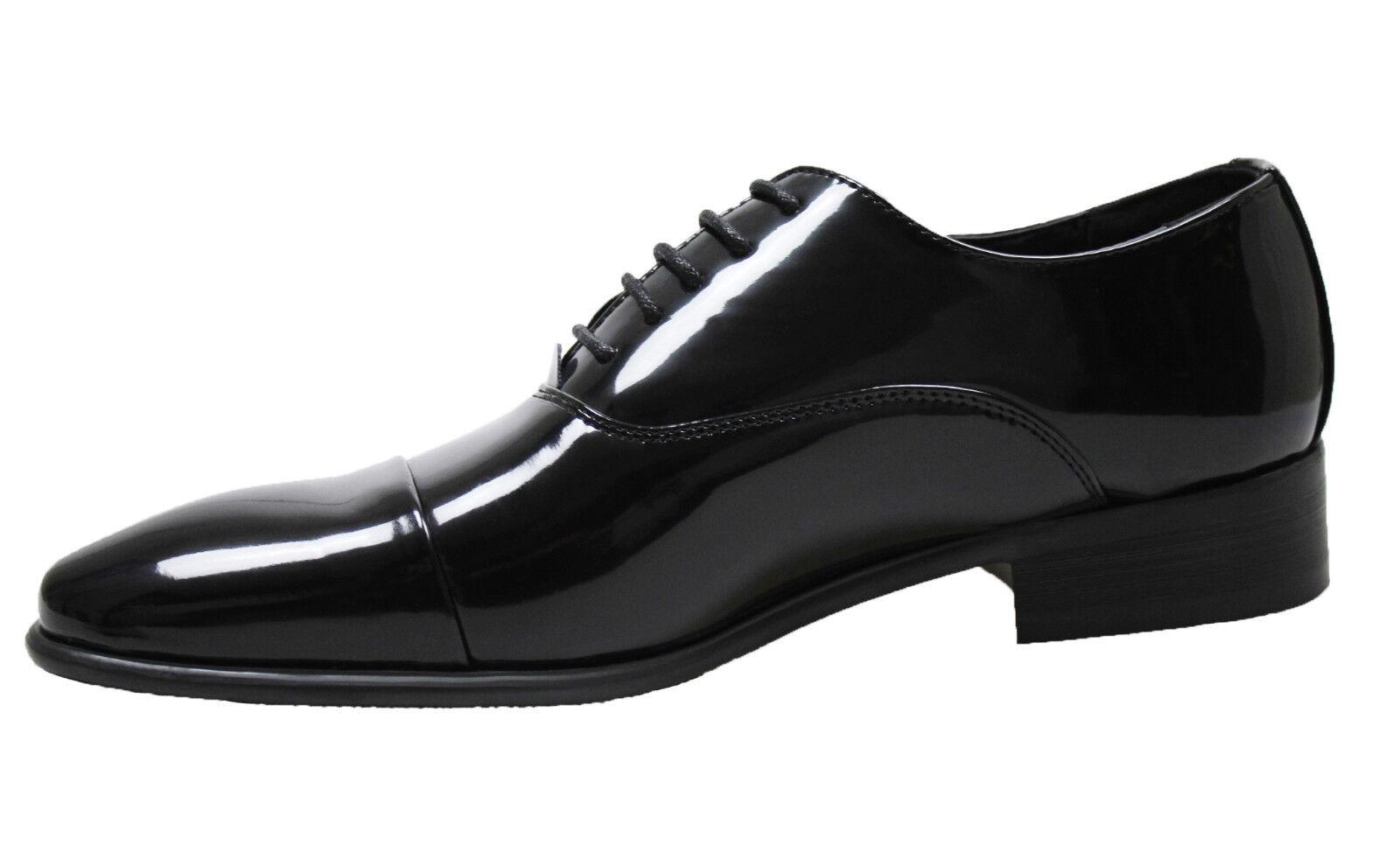 Herrenschuhe Class Schwarz Glänzend Schuhe Elegant Unternehmen Zeremonie von 40
