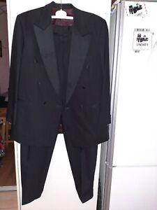 WILVORST Hochzeitanzug/ Anzug Größe L 50 Schwarz wolle wie NEU!