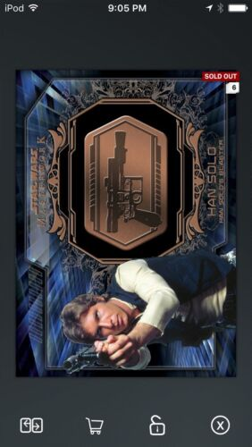 Topps Star Wars Digital Card Trader Bronze Han Solo Medallion Insert