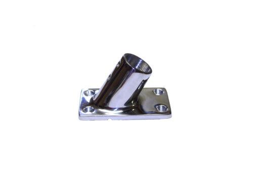 """base 7//8/"""" tube Stainless Hand Rail Fitting 60 deg rec"""