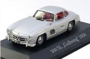 MERCEDES-BENZ-300SL-1-43-Modele-De-Voiture-Die-Cast-Metal-Modeles-Miniature-300-Sl-Argent